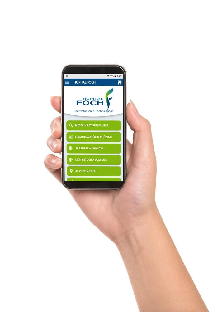 Application Smartphone Hôpital Foch