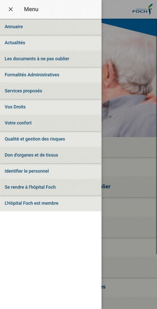 App Guide dupatient Hopital Foch