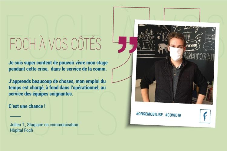Julien.T, stagiaire encommunication